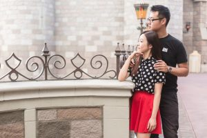 Stylish and fun photo shoot at Disney World by top Orlando wedding and engagement photographer