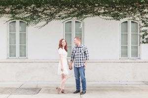 Engagement session in Winter Park Hannibal Sqaure captured by best Orlando wedding photographer