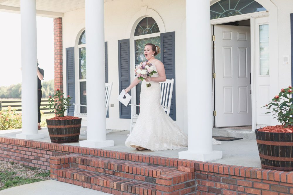 Bride is surprised by a gift from her dad on her wedding day in Sumterville Florida