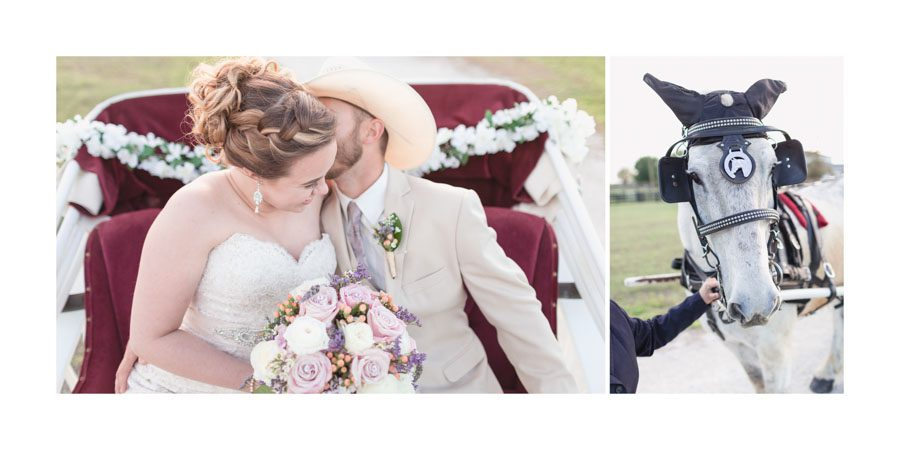 Classic wedding album designed by Orlando wedding photographer for a romantic country wedding in Florida