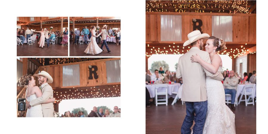 Featured album page design with a beautiful spread from an Orlando wedding day in the Spring