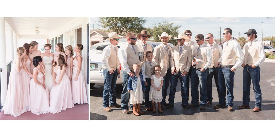 Timeless wedding album design by top Orlando wedding photography team for a rustic charming wedding in Sumterville Florida