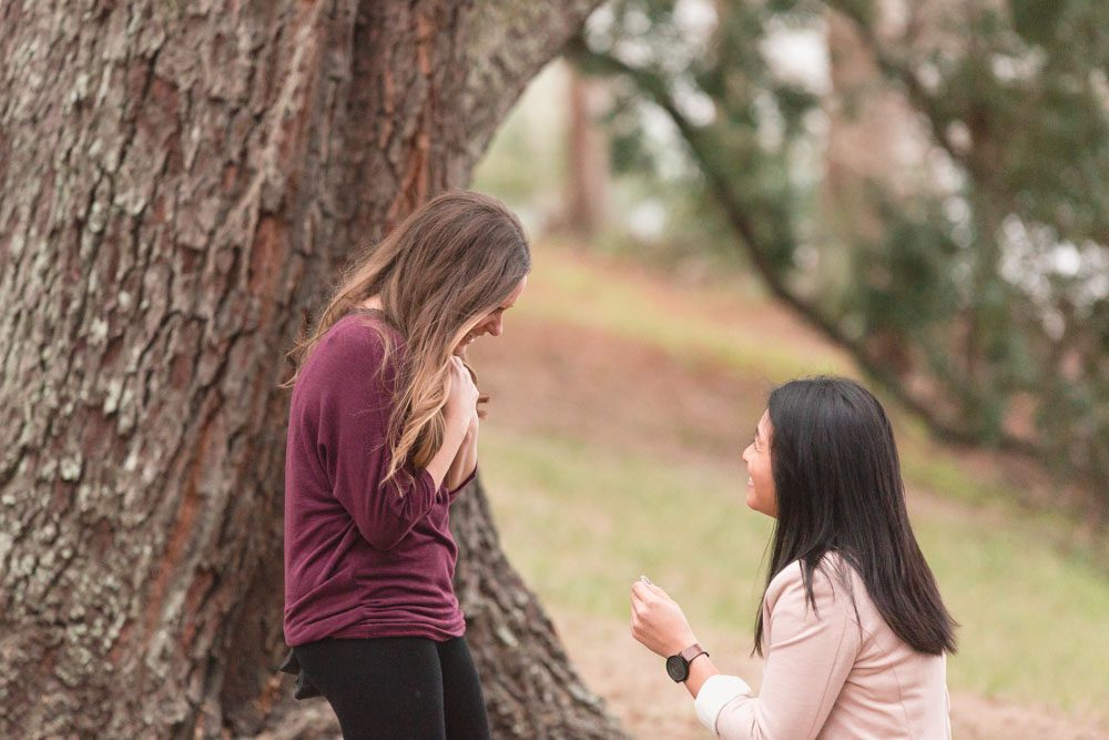 Romantic same-sex marriage proposal captured by top Orlando wedding and engagement photographer