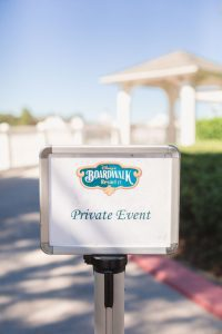 Disney wedding photography at Sea Breeze Point at the Boardwalk in Orlando, Florida for an escape wedding