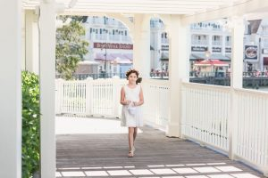 Intimate wedding ceremony at Disney's Sea Breeze Point captured by Orlando wedding photography and videography team