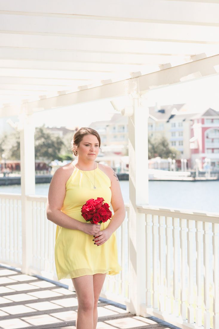 Orlando wedding photographer and videography capture intimate escape wedding at Disney in Orlando, Florida