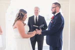 Orlando wedding photographer captures intimate Disney wedding at Sea Breeze point at the Boardwalk Inn