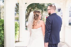 Portrait of the bride and groom at their Disney wedding day in Orlando captured by top photographer and videographer