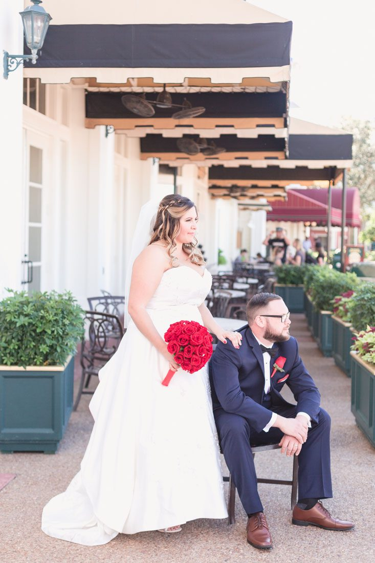 Beautiful wedding photography in Orlando at the Boardwalk Inn during a Disney wedding