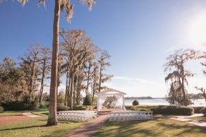 Gay wedding at Cypress Grove Estate House in Orlando Florida featuring a historic outdoor venue