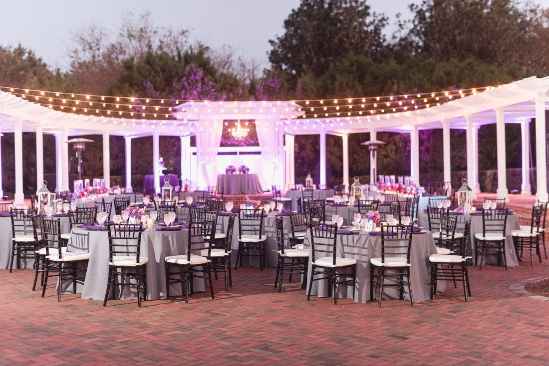 Cypress grove orlando wedding photography lgbt 15 captured by elle photography of purple wedding decor at cypress grove outdoor wedding venue in orlando junglespirit Image collections