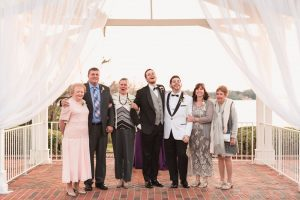 Family portrait during a gay wedding in Orlando captured by top LGBT wedding photographer