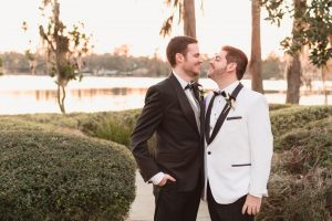 Gay wedding photography at Cypress Grove park captured by top LGBT wedding photographer in Orlando