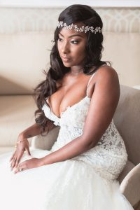 Portrait of the bride on her wedding day captured by top Orlando wedding photography team