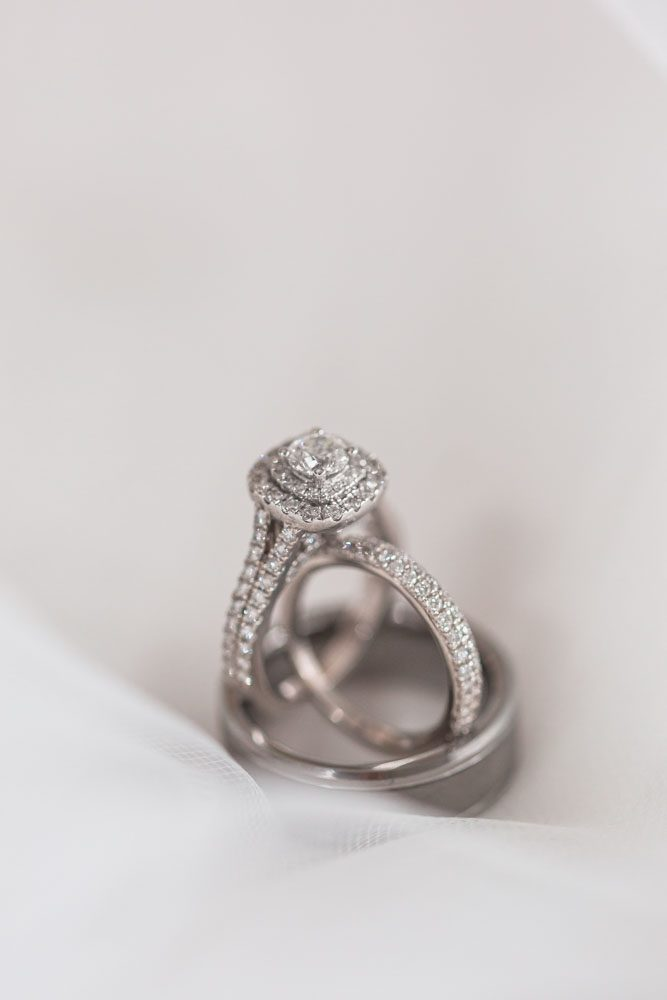 Close up of the wedding rings during this Orlando Florida wedding