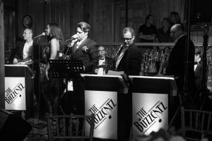Buzzcats wedding band perform during a reception at the Estate on the Halifax near Orlando