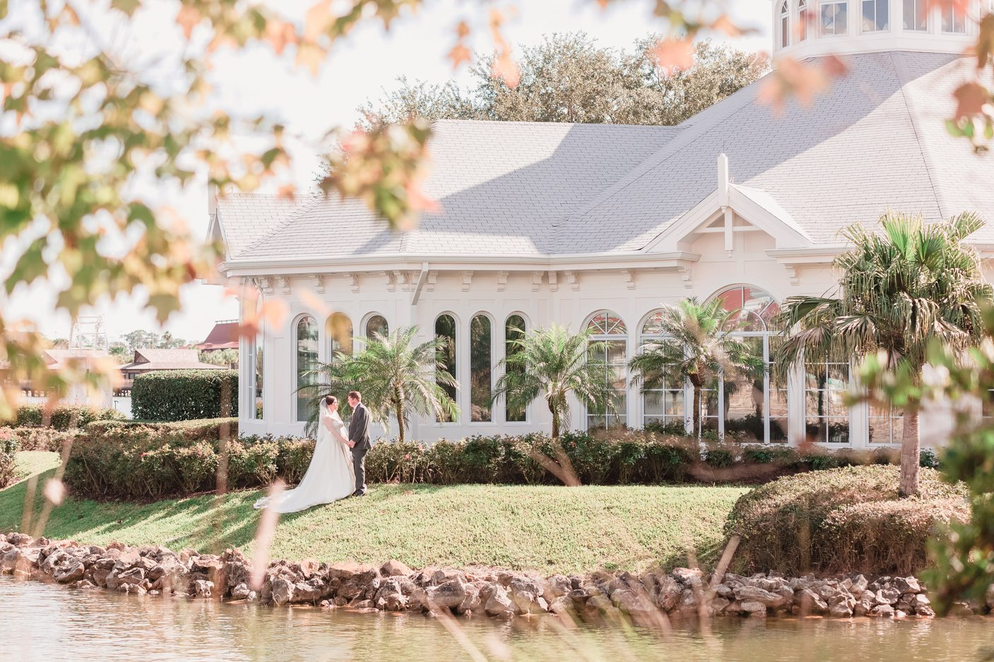 Orlando wedding photographer captures disney wedding pavilion