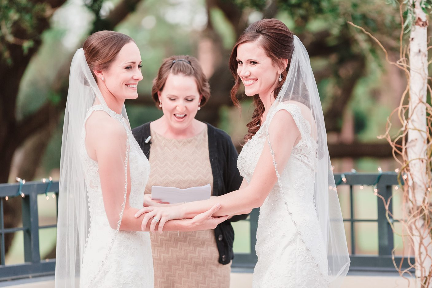 Two brides at their gay wedding in Orlando captured by top photographer