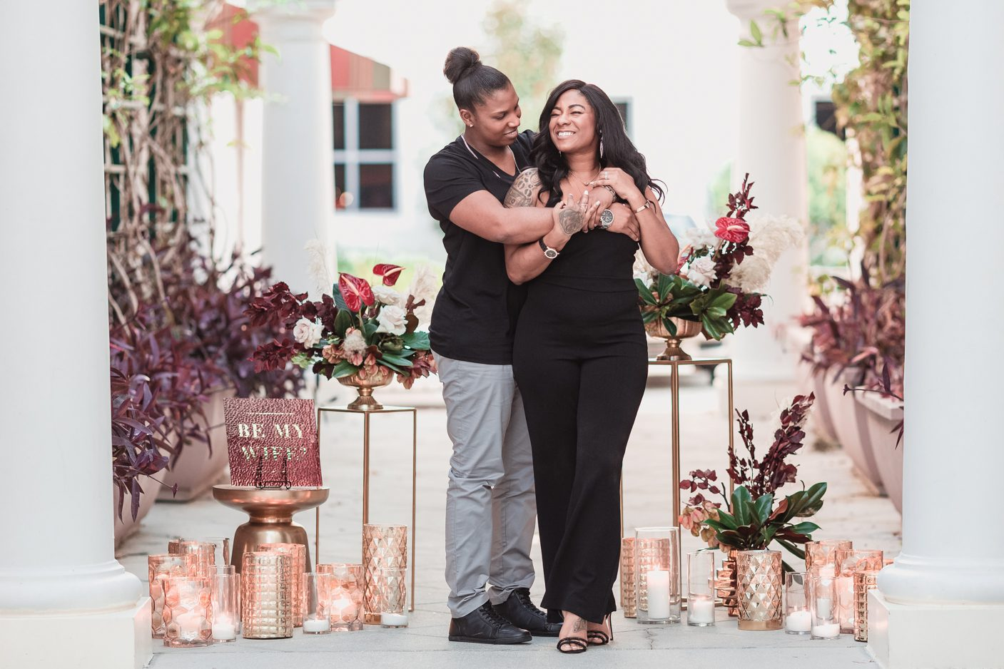 Lesbian surprise proposal in downtown Orlando captured by top LGBT photographer
