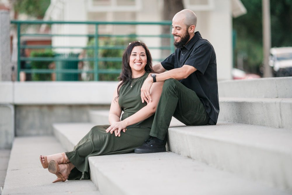 Orlando engagement photographer captures romantic photo session in Celebration Florida
