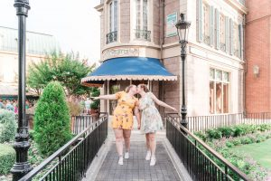 Romantic engagement session at Epcot park in Disney captured by Orlando gay and lesbian photographer
