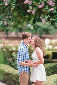 Romantic Engagement photography session in Orlando at Disney resort Port Orleans Riverside captured by top Orlando proposal photographer