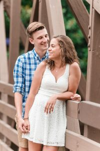Candid engagement photo at Port Orleans Riverside Disney resort captured by top Orlando photographer
