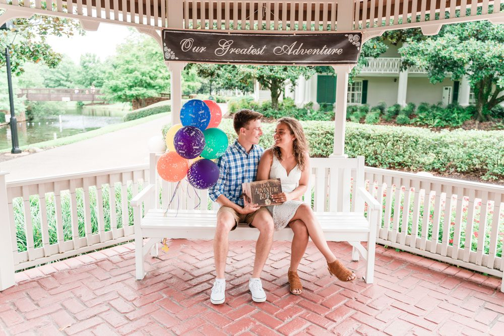Disney UP movie themed engagement session at Port Orleans Riverside in Orlando captured by top photographers