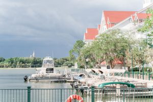 Surprise proposal on the dock at the Grand Floridian Resort at Disney in Orlando