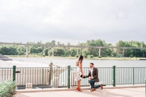 Surprise proposal captured by top Orlando engagement photographer at the Grand Floridian at Disney