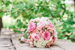 Blush pink bridal bouquet captured by Orlando wedding photographer
