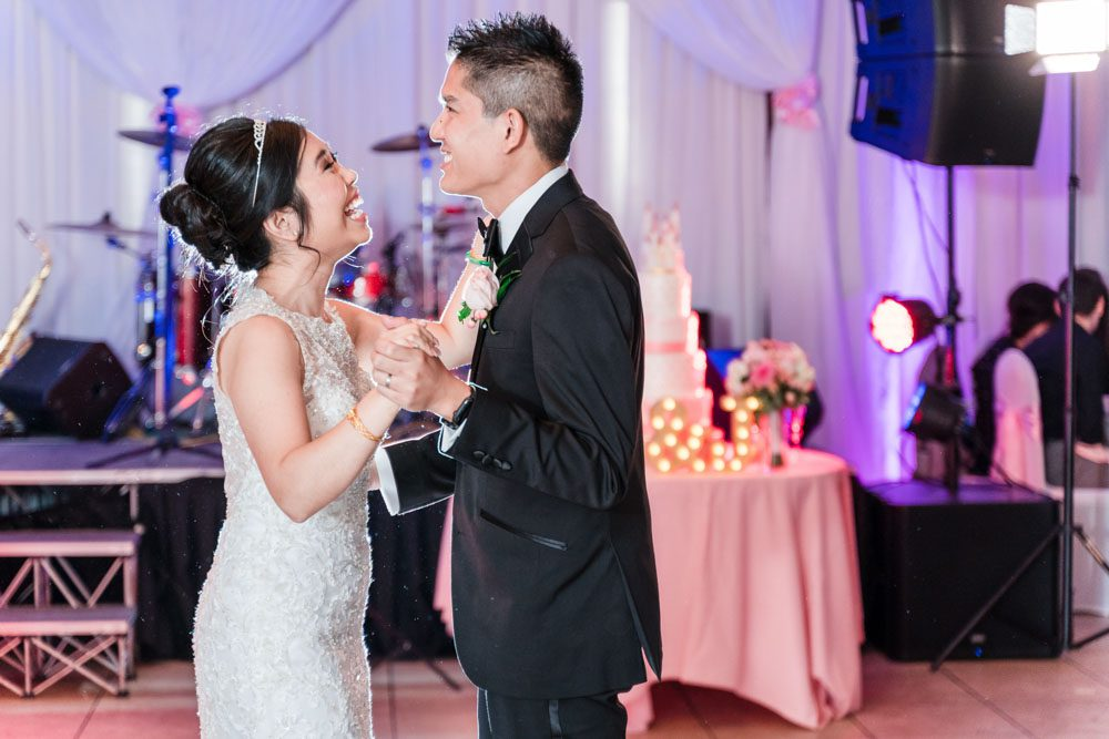 Top Orlando wedding photographers capture first dance at Hy Palace in Oklahoma