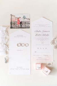 Beautiful invitation suite with bridal details captured by top Orlando wedding photographer