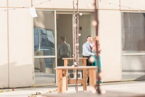 Orlando surprise proposal on a rooftop at The Balcony venue captured by top engagement photographer